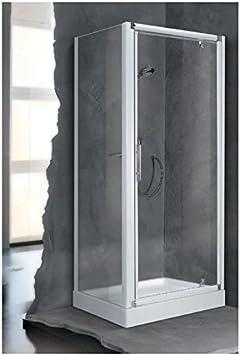 Mampara de ducha lunes F 84 cm extensible hasta 90 cm, fijo, reversible, para instalación con una puerta en ángulo, en cristal Tran: Amazon.es: Bricolaje y herramientas