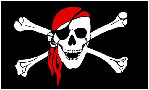 AZ FLAG Bandera Calavera con Moto 150x90cm Bandera Pirata 90 x 150 cm