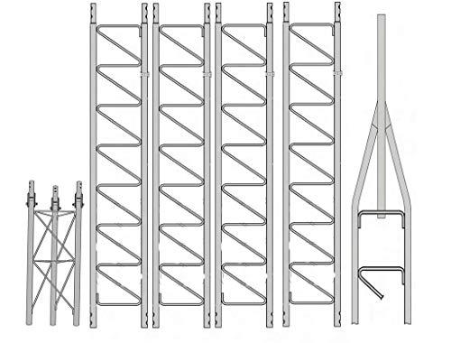 Rohn 25G 50' Tower with Hinged Base (Fold Over Base): Amazon