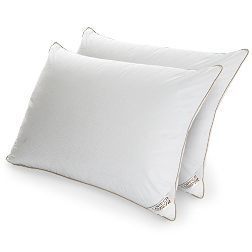 CopperFit Copper, Antimicrobial with Allergen Barrier and Cool Wicking Technology Infused Pillows (Two-Pack) King White