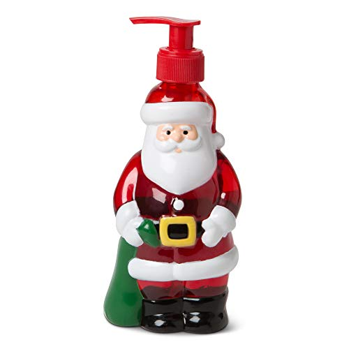 Seasonal Decor Hand Soap Dispenser: Tri-Coastal Design Santa Shaped Bottle with Scented Liquid Soap - Decorative Hand Pump Refillable Soap Dispensers for Kitchen and Bathroom - 11.8 ounces (Soap Dispensers Christmas)