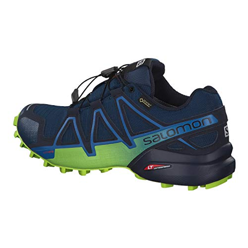 07adcbcdab0 Salomon Men's Speedcross 4 GTX Running Trail Shoes Poseidon/Navy  Blazer/Lime Green 11.5