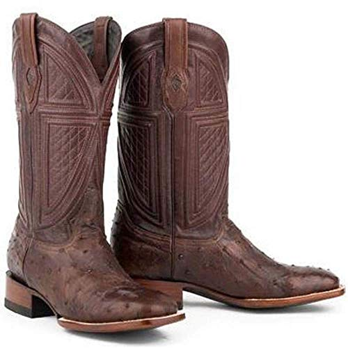 (Men's Stetson Jackson Ostrich Boots Square Toe Handcrafted JBS Collection)