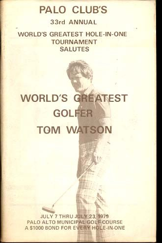 PALO CLUBS 1979 HOLE IN ONE TOM WATSON VF/NM at Amazons ...
