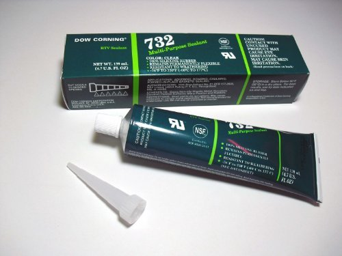 Dow Corning Rtv Sealant - Clear Dow Corning 732 Multi-Purpose Silicone Sealant - 4.7 Oz Tube