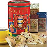 Coffee Sampler with Wild Berry Biscotti Gift Tin