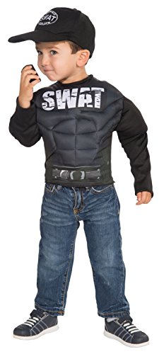 S.W.A.T. Fiber-Filled Muscle Chest Dress-Up Shirt Costume (S W A T Team Child Costumes)