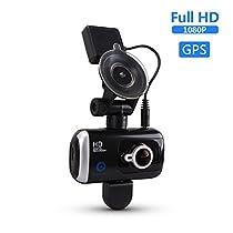 ドライブレコーダー FULL HD ドラレコ 170度広角レンズ 二つカメラ...