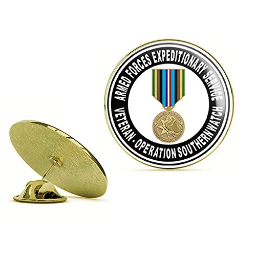 HOF Trading Gold US Army Armed Forces Expeditionary Medal Operation Southern Watch Gold Lapel Pin Tie Suit Shirt Pinback from HOF Trading
