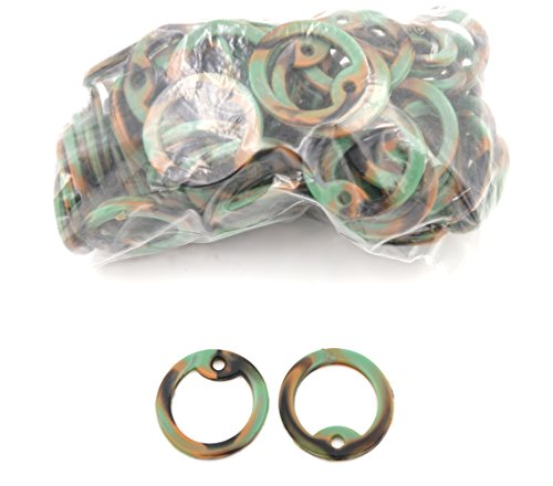 Yippo Accessories WOODLAND CAMO Silicone Military Army Navy Air Force USMC Dog Tags Rubber Silencers - Bag of 100 ()