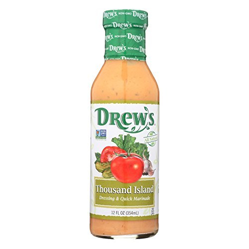 Drews All Natural Thousand Island Dressing and Quick Marinade, 12 Fluid Ounce - 6 per case. by Drews All Natural