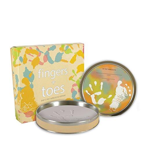 Stephan Baby Tiny Treasures Clay Handprint/Footprint Kit in Keepsake Tin ()