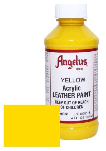 Angelus Acrylic Leather Paint 4oz Yellow