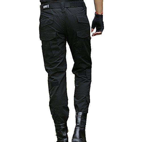 haoYK Pantalon Militaire Paintball BDU Pantalon Airsoft Pantalon Polyvalent avec genouillères 5