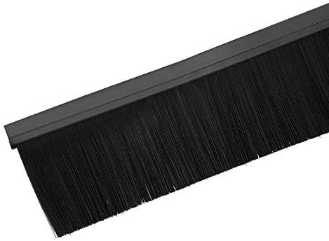 Aluminum alloy base H-shaped bottom sweep door with black nylon brush 3.2 inches 39 inches x 4 inches