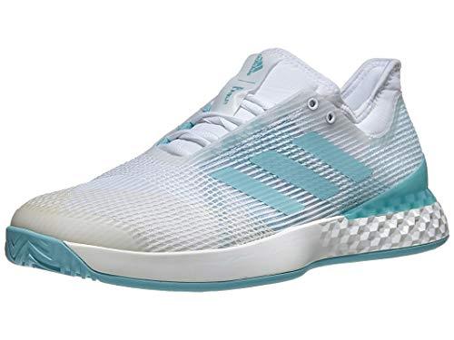adidas Men's Adizero Ubersonic 3 Tennis Shoe, Blue Spirit/White, 14 M -