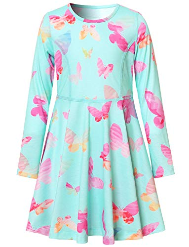 Butterfly Dresses for Girls 4t 6t Birthday Casual Cotton -
