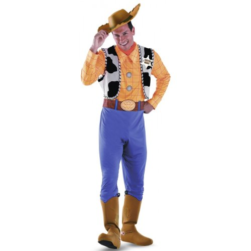 Deluxe Woody Costumes (Disguise Men's Woody Deluxe Adult Costume,Multi,XL (42-46))
