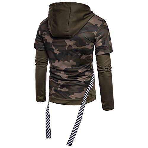 Sweater Cordon Militaire Manche ball 1 Armée De Shirt Longue Garçon Zipper 2 À Camouflage Capuche Basket En Sweatershirt Pull Serrage Wslcn Verte Homme Ogq7xw4