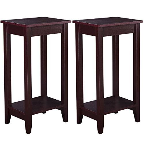 Giantex Coffee Nightstand Accent Furniture