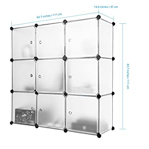 Finether 9 cube penderie armoire storage modulable meuble for Meuble cube modulable