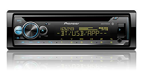 Pioneer in-Dash Built-in Bluetooth CD, MP3, Front USB, Auxiliary, Pandora, AM/FM, Built in iPod, iPhone and iPad Controls, ARC Phone app, Dual Phone Connection Stereo Receiver/Free ALPHASONIK Earbuds