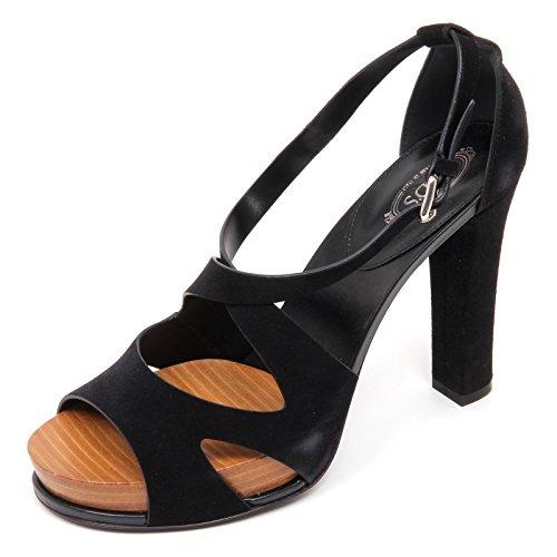 Sandalo Woman Nero Shoe Tod's Donna Scarpa D2296 Sandal AxRSwS