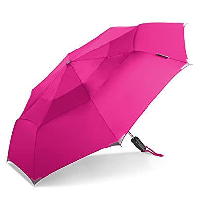 ShedRain WalkSafe Vented Auto Open Auto Close Umbrella: Hot Pink well-wreapped