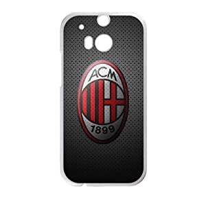 HTC One M8 Cell Phone Case White AC Milan Football 0011 PQN6053055329583