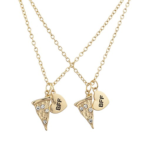 lux-accessories-goldtone-bff-best-friends-forever-pizza-slice-necklace-set-2pc