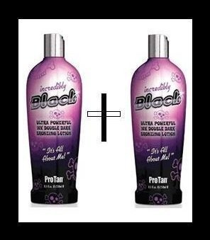 2 X PRO TAN INCREDIBLY BLACK SUNBED LOTION SUNBED CREAM by PBI