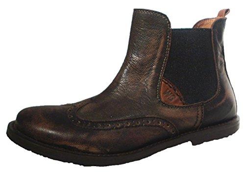 Walk Safari Leder Chelsea Boots Stiefel Vintage braun Budapester