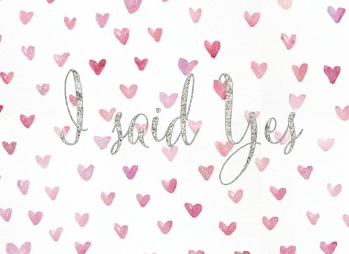 I Said Yes: Hearts Cover | All Occasions | Guest Book | Message Book | Keepsake | Weddings, Engagements, Anniversaries | 60 formatted pages, 8.25