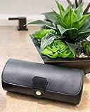 Vegan Leather Travel Watch Case Roll Organizer by