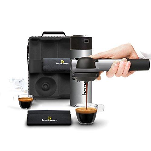 Handpresso HPOUTDOORCMPLT-GRY Pump Espresso Machine Outdoor Set, Silver by Handpresso