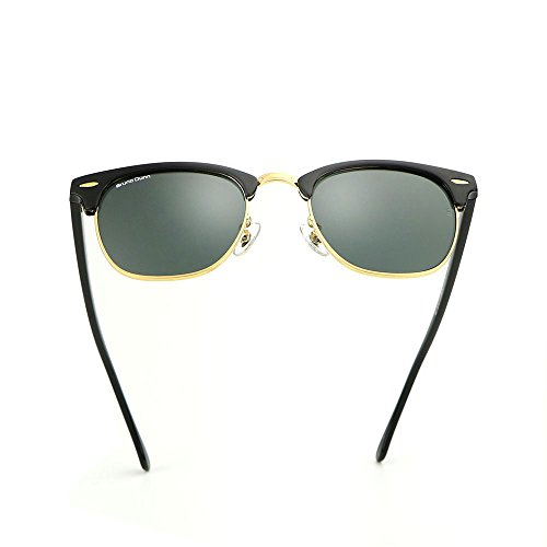 Classic Clubmaster Retro Wayfarer Women Sunglasses Men Luxury Brand - Logo Black Luxury Sunglasses