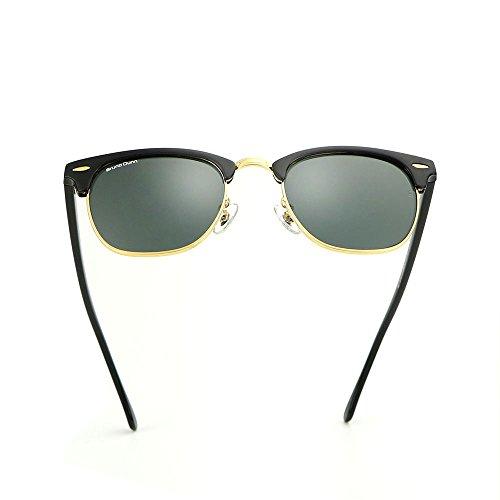 Classic Clubmaster Retro Wayfarer Women Sunglasses Men Luxury Brand - Sunglasses Luxury Black Logo