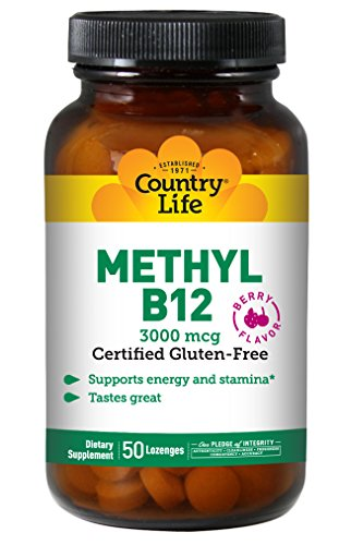 Country Life Biochem Formulas Superior B-12 Lozenges, 3000 Mcg, 50-Lozenge