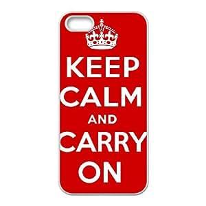 Keep calm iPhone 5 5s Cell Phone Case White SA9675986