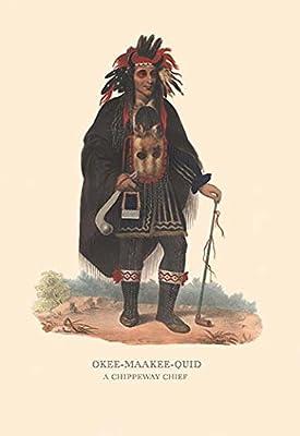 """Okee-Maakee-Quid (A Chippewah Chief)Fine art canvas print (20"""""""" x 30"""""""")"""