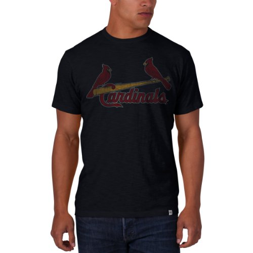 Ball Cardinals Louis Long (MLB St. Louis Cardinals Men's Scrum Basic Tee with Name and Logo, Small, Fall Navy)
