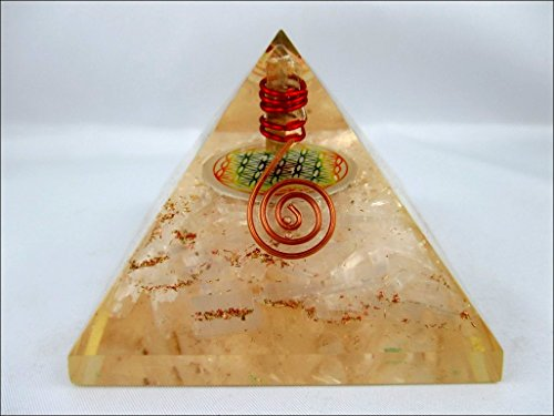 Selenite Flower Of Life Orgone Pyramid Christmas Tower Buster Piezo Electric Emf Protection Generator Frequency Ions Tested Cloud Chem Buster A