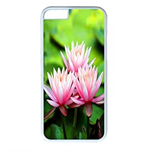 Blossom Design White PC Case for Iphone 6 Water Lily