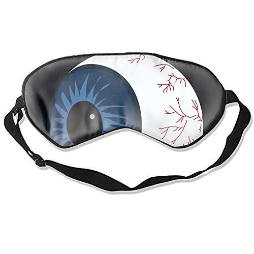 100% Silk Sleep Mask for Women & Men, Eye Mask for Sleeping with Adjustable Strap, Blindfold, Halloween Eyeball -