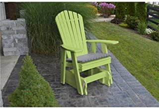 product image for Poly 2 Ft Single Adirondack Glider Chair - Lime Green