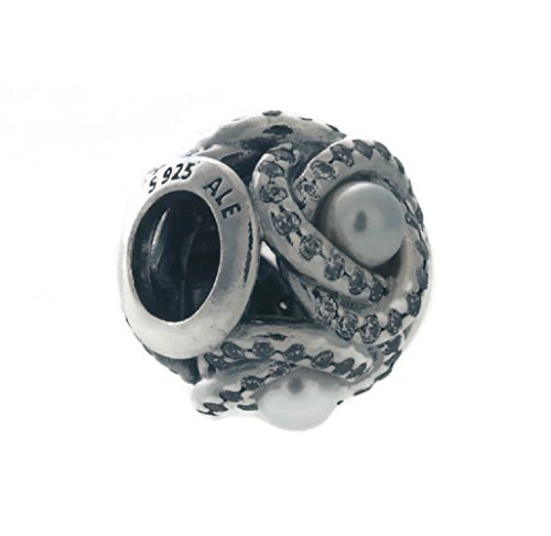 Pandora Luminous Love Knot, White Crystal Pearl & Clear CZ Charm 792105WCP