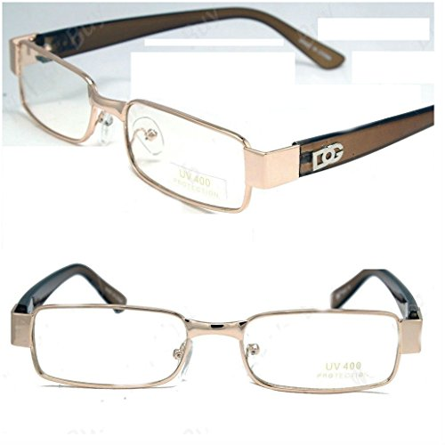 4 Optical Frame (New Mens Womens DG Clear Lens Frames Glasses Designer Fashion Optical RX Nerd 32)