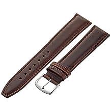 Hadley-Roma Men's MSM881LB-200 20mm Brown Oil-Tan Leather Watch Strap