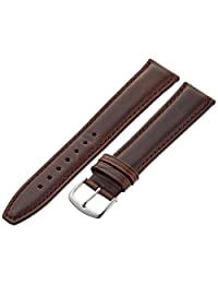 Hadley-Roma Men's MSM881LB-200 20mm Brown Oil-Tan Leather Watch Strap