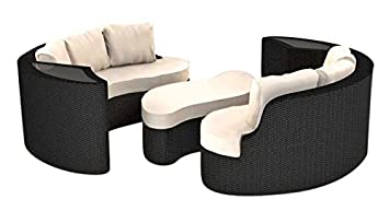 Amazon De Artelia Yamelia Polyrattan Rattaninsel Loungemobel Fur